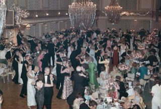 Dancers at the 1945 Victory Dance hosted by The 25 Club