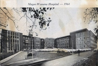 1964 Postcard of Magee Womens Hospital, 2 years after it was formed.