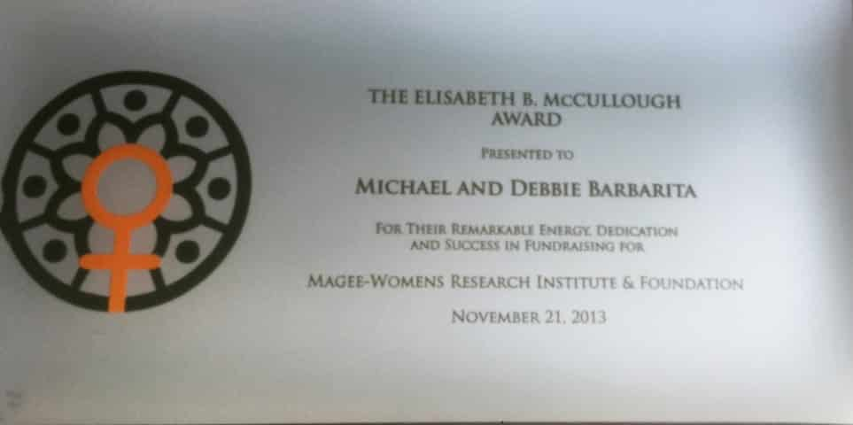 1996: Elisabeth B. McCullough Award Created